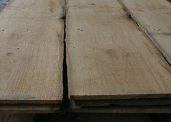 Thick veneer, boards and planks, sawn of original antique oak