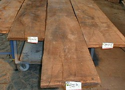 Original antique oak boards and planks as architectural salvage
