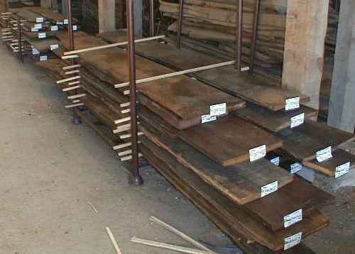 Original reclaimed oak boards from the attic