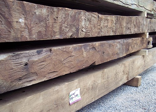Oak beams as timber for restoration and new construction