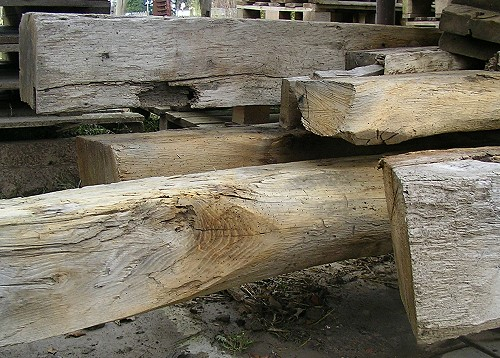 Oak beams for decorative purposes